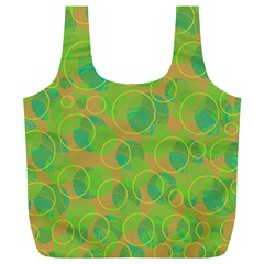 Green decorative art Full Print Recycle Bags (L)