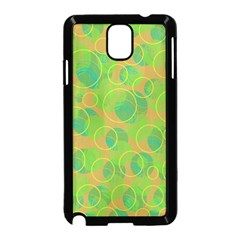 Green decorative art Samsung Galaxy Note 3 Neo Hardshell Case (Black)
