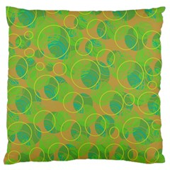 Green decorative art Large Flano Cushion Case (One Side)