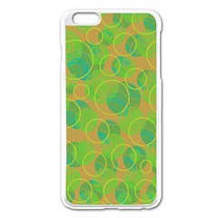 Green decorative art Apple iPhone 6 Plus/6S Plus Enamel White Case