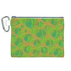 Green decorative art Canvas Cosmetic Bag (XL)