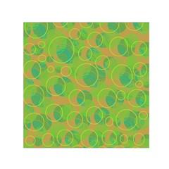 Green decorative art Small Satin Scarf (Square)