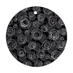 Gray abstract art Ornament (Round)