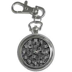 Gray abstract art Key Chain Watches