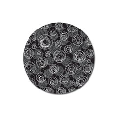 Gray abstract art Magnet 3  (Round)