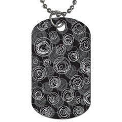 Gray abstract art Dog Tag (Two Sides)