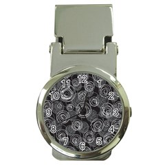 Gray abstract art Money Clip Watches