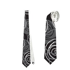 Gray abstract art Neckties (One Side)