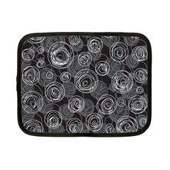 Gray abstract art Netbook Case (Small)