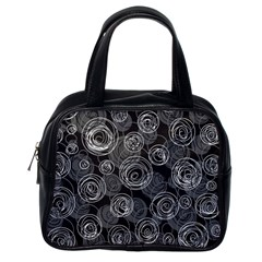 Gray abstract art Classic Handbags (One Side)