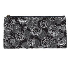 Gray abstract art Pencil Cases