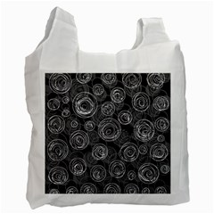 Gray abstract art Recycle Bag (Two Side)