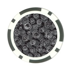 Gray abstract art Poker Chip Card Guards (10 pack)