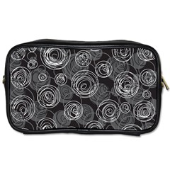 Gray abstract art Toiletries Bags 2-Side