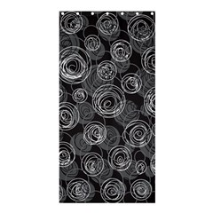 Gray abstract art Shower Curtain 36  x 72  (Stall)