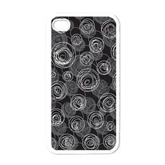 Gray abstract art Apple iPhone 4 Case (White)