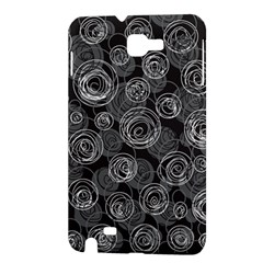 Gray abstract art Samsung Galaxy Note 1 Hardshell Case