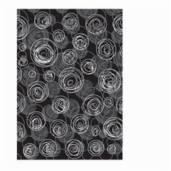 Gray abstract art Large Garden Flag (Two Sides)