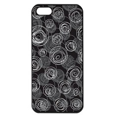 Gray Abstract Art Apple Iphone 5 Seamless Case (black)