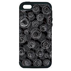 Gray abstract art Apple iPhone 5 Hardshell Case (PC+Silicone)