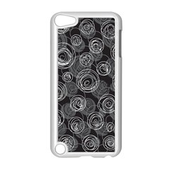 Gray abstract art Apple iPod Touch 5 Case (White)