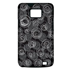 Gray abstract art Samsung Galaxy S II i9100 Hardshell Case (PC+Silicone)