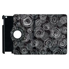 Gray abstract art Apple iPad 2 Flip 360 Case