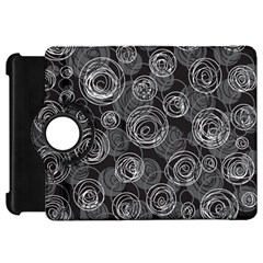 Gray abstract art Kindle Fire HD Flip 360 Case