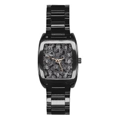 Gray abstract art Stainless Steel Barrel Watch