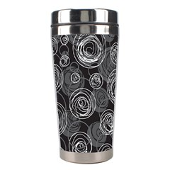 Gray abstract art Stainless Steel Travel Tumblers