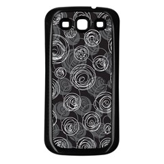 Gray abstract art Samsung Galaxy S3 Back Case (Black)
