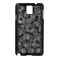 Gray abstract art Samsung Galaxy Note 3 N9005 Case (Black)