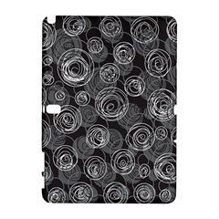 Gray abstract art Samsung Galaxy Note 10.1 (P600) Hardshell Case