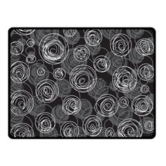 Gray abstract art Double Sided Fleece Blanket (Small)