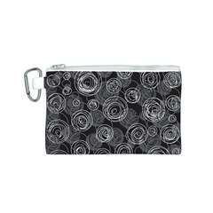 Gray abstract art Canvas Cosmetic Bag (S)