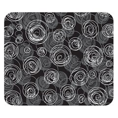 Gray abstract art Double Sided Flano Blanket (Small)