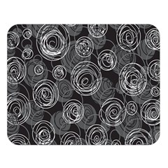 Gray abstract art Double Sided Flano Blanket (Large)