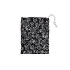 Gray abstract art Drawstring Pouches (XS)