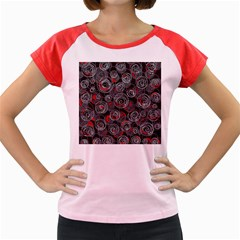 Red and gray abstract art Women s Cap Sleeve T-Shirt