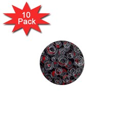 Red and gray abstract art 1  Mini Magnet (10 pack)