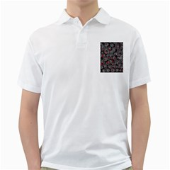 Red and gray abstract art Golf Shirts