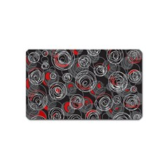 Red and gray abstract art Magnet (Name Card)
