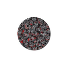 Red and gray abstract art Golf Ball Marker (4 pack)