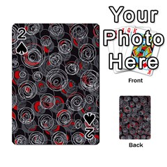 Red and gray abstract art Playing Cards 54 Designs