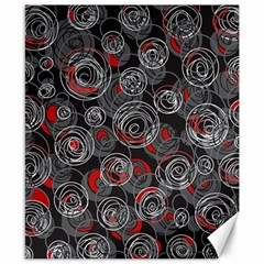 Red and gray abstract art Canvas 8  x 10