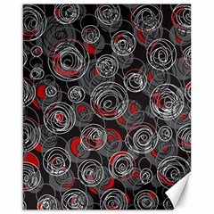 Red and gray abstract art Canvas 16  x 20