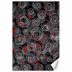 Red and gray abstract art Canvas 20  x 30