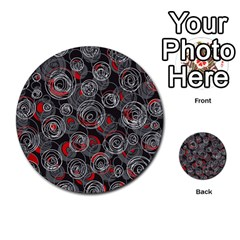 Red and gray abstract art Multi-purpose Cards (Round)