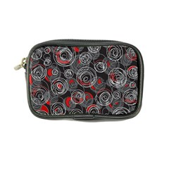 Red and gray abstract art Coin Purse
