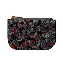 Red and gray abstract art Mini Coin Purses